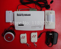 Wholesale Home alarm system Mhz two antenna intercom Security GSM alarm system with English Russia Model Free Shippping