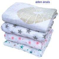 Wholesale Aden Anais Muslin Swaddle Blanket Infant Newborn Baby Cotton muslin blanket x120cm Gauze Bath Towel Muslin Swaddle