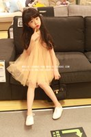 Wholesale Korean children s clothing summer new arrival cotton lace embroidered tulle ruffle sleeveless princess tutu dress