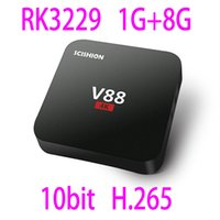 Wholesale the newest V88 TV box Android RK3229 G G K x K fps bit H WiFi KODI Loaded better than M8s PRO HDD player