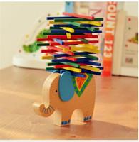 Wholesale Balance Wooden Puzzle Toys Wooden Building Blocks Elephant Camel horse Balancing Blocks Sticks Models Educational Blocks Toys