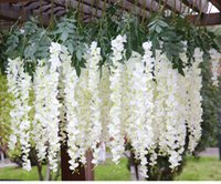 Wholesale Meter simulation silk wristria vine wedding home decoration flower rattan for