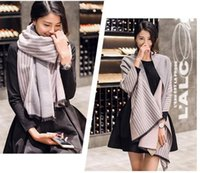 Wholesale Fashion new style scarfs for women scarves stripe shawl cashmere cm Oversize Extra long winter warm shawls