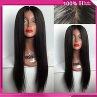 big head hairstyles - Brazilian full lace human hair wigs or Full Head Lace Front Wig Natural straight wigs