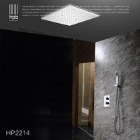 Wholesale Han Pai Brass Bathroom Thermostatic Water Mixer Ceiling Mounted Shower Head Bath Rain Shower Set Faucet torneira banheiro HP2214