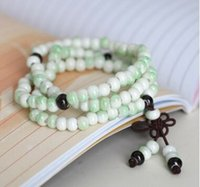 Wholesale Jingdezhen creative handmade ceramic first act the role ofing is tasted Green bead bracelet The new men s and women s general