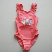 bebe l - 6pcs Y Girls ruffles Swimwear with ice cream Glaces a l eau maillot de bain bebe girls swimsuit one piece zwemkleding girl