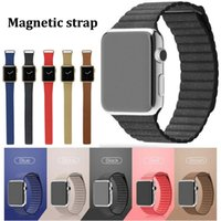 belt loop watch - 5 Colors Magnetic Real Leather Loop band Strap For Apple Watch Band iWatch Belt mm mm