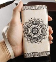 Wholesale Retro Pattern Leather Flip Wallet Phone Case Cover for iPhone s Plus Samsung