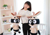 big buck - 55CM Hot cute pirate bunny rabbit doll plush toy rabbit doll buck teeth and big eyes anime kawaii kids juguetes