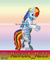 al por mayor vestido rainbow dash-MALL480 encargo profesional Rainbow Dash mascota de la historieta del traje del personaje animado temáticas Disfraces Cosply Mascotte vestido de lujo kits para la escuela