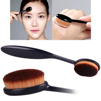 black powder - Fashion Women s Pro Powder Foundation Makeup Brushes Nylon Black Curve Oval Makeup Accessories Without Retail Box T250