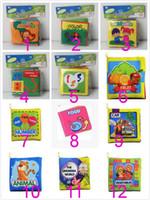 baby alphabet book - EMS Three dimensional baby cloth book early education toys the English palm book animal digital shape awareness environmental cloth