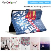 amazon sleeping bag - For Amazon Kindle Voyage Degree Rotating Serise Cover Intelligent sleep cases for Amazon kindle paperwhite Voyage XiaoMi Tablet OPP BAG