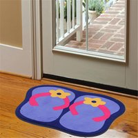 Wholesale HD Creative people sandals cartoon bedroom door mat absorbent mats non slip mats and cashmere g