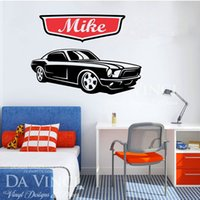 american car names - E569 Wall Stickers Home decor DIY poster Decal mural Decoration Cars Classic Wheels Sport Racecar Personalized Custom Name