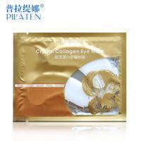 Wholesale 2016 PILATEN Collagen Crystal Eye Masks Anti puffiness moisturizing Eye masks Anti aging masks collagen gold powder eye mask