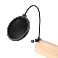 Wholesale Hotsale Double Layer Studio Microphone Mic Wind Screen Pop Filter Swivel Mount Mask Shied For Speaking Recording