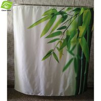 bamboo bathroom products - 180X180CM Bamboo Leaves Waterproof Shower Curtain Bathroom Products Printing Polyester Bath Curtain