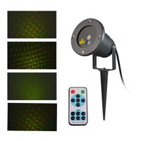 Wholesale Waterproof IP65 Red and Green Projector Outdoor Garden laser light Tree Landscape lamp with wireless remote control