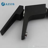Wholesale AZOS Bathroom Basin Tap Brass Black Color Single Hole Deck Mount Hot Cold Mixer Toilet Sink Faucet Furniture Replacements MPDKZ179