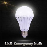 Wholesale E27 LED Smart Rechargeable Bulbs V E27 Emergency Light Bulb Lamp Home Commercial Outdoor lighting W W W W V Bombillas Light Cool