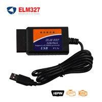 al por mayor interfaz de diagnóstico obd2 coche del explorador-ELM327 Interfaz del USB ELM 327 interfaz del USB V1.5 Versión OBD2 / OBDII explorador Diagnóstico del coche l lector de código auto