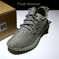 badminton men double - Top Quality Boost Shoes Kanye West Boost Shoes Ship Double Boxed Pirate Black Turtle Dove Moonrock Oxford Tan Boost Shoes