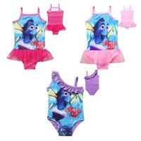 Wholesale Girls Finding Dory princess sling Swimsuit Design Summer Children Finding Nemo One Pieces Swimwear Swimming clothes