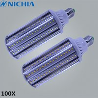 Wholesale 100X Bombillas LED LAMP E26 E27 E40 E39 W W W W AC V V Lampada Aluminum LED Corn Light Bulbs LED Lamps Luz