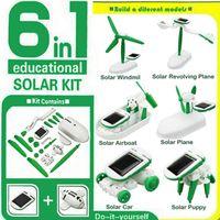 Wholesale 2016 HOT in Creative DIY Education Learning Power Solar Robot Kit Children Toys Gift