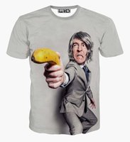 banana gun - tshirt Men s summer t shirt creative print a banana gun person cartoon t shirt d funny tshirt tops men clothing
