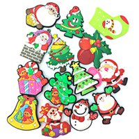 Wholesale Snowman Fridge Magnets - Newest Christmas Santa Claus Snowman Fridge Magnet 2016 Cute Cartoon Fashion Crystal Glass Fridge Magnets Funny Refrigerator Toy