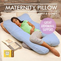 Wholesale Maternity Pillow Pregnancy Nursing Sleeping Support Feeding Boyfriend Blue