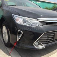 Wholesale For Toyota Camry ABS Chromed Front Air Vent Outlet Trim Exterior Accessories set Not fit for American car model