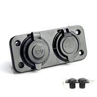 Wholesale 1x Dual USB V Charger Power Adapter Car Cigarette Lighter Socket Splitter M00107 CAD