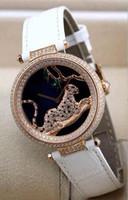 arts steel watch - art jewelry leopard diamonds fashion women s watch mm dial Japan quartz lady girl wristwatch FRANCE PARIS LUXURY