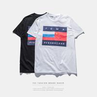 Wholesale TOP quality gosha Rubchinskiy flag print palace skateboards T shirt men summer tshirt tee off white virgil abloh