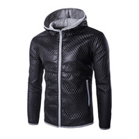 Wholesale Fall Hot Hit Color Mens Hooded Leather Jacket Winter Style Fashion Harley Leather Motorcycle Leather Jacket Brand clothing PY41