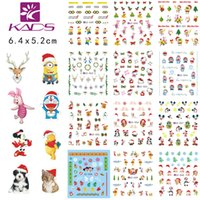 Wholesale KADS LARGE CZ49 one set sheet Christmas Water decal Nail Stickers Christmas Cartoon design nail sticker accessories