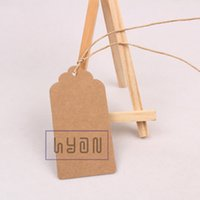 Wholesale cm Brown Blank Paper Gift Tags with paper Cords DIY Greeting Cardboard Hangtags Price Labels colors can be mixed