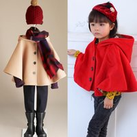 Wholesale Fashion Girls Wool Woolen Shawl Loose Jacket Coat Spring and Autumn Casual Kids Cute Jacket Tops
