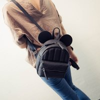 Wholesale The new spring and summer of female bag fashion mickey ears lines in the backpack