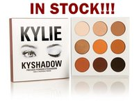 Wholesale drop ship IN STOCK hot sale new kylie Kyshadow pressed powder eye shadow palette the Bronze Palette Kyshadow Kit Kylie Cosmetic colors0804