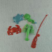 baby fishing pole - Baby Toddler Floating Educational Magnetic Fishing Game Bath Toy Set Animal Fishing Pole Rod Gift