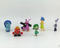 Wholesale Q version Inside Out action Figure toys New Cartoon Japanese Animation PVC Figure Emotions Anger Joy Fear Disgust Sadness