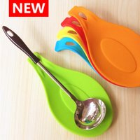 Wholesale Silicone Spoon Insulation Mat Silicone Heat Resistant Placemat Drink Glass Coaster Tray hot sale Spoon Pad Kitchen Tool DHL