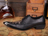 american chocolate bars - 2015 European and American Retro Fashion Trend Men Bullock Carved Pointed toe Bar Nightclub Personality Influx of Men s Shoes