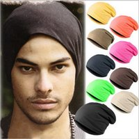 beach stack - New Unisex Beanie Stacking Knitted Hat Slouch For Women Men Hip Hop Free Size Casual Autumn Winter Cap Colors Solid