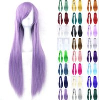 Wholesale New Sexy Fashion Womens Girls Wavy Curly Long Hair Human Full Wigs With CAP